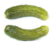 Pickles. White isolated studio shot Royalty Free Stock Photos