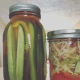 Pickles and cabbage Royalty Free Stock Photography