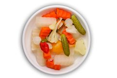 Pickles with clipping path Stock Image