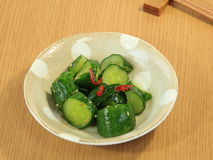 Pickles of cucumber. Pickles cucumber food dish japan green japanese pickled Stock Photo