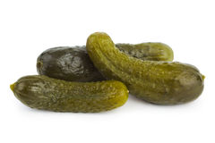 Pickles cucumber. On white background Stock Photo