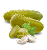 Pickles cucumbers Stock Image