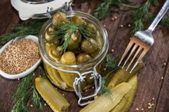 Pickles in a glass Royalty Free Stock Photos