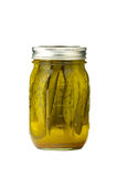 Pickles in jar Royalty Free Stock Photos