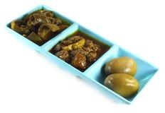 Pickles of lemon mango and bilimbi Royalty Free Stock Photo