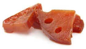 Pickles of Medicinal Bael fruit Stock Images