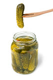 Pickles preserved gherkins Royalty Free Stock Images