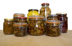 Pickles and Preserves Stock Photography