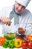 Pickles salad with fresh vegetables stock photos
