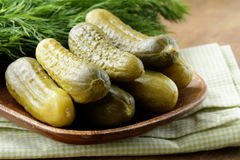 Pickles salted cucumbers pickled vegetables Stock Photos