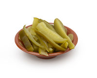 Pickles  on white background Royalty Free Stock Photo