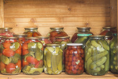 Pickles and tomatoes Stock Photo