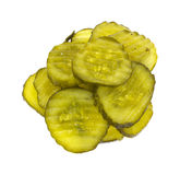 Pickles on White Background Stock Image