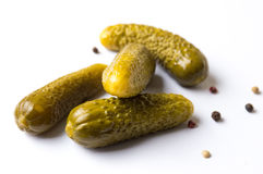 Pickles on white background Stock Photo