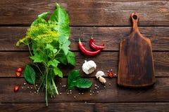 Pickling cucumbers ingredients Stock Photo