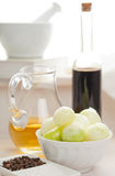 Pickling onions preparation Royalty Free Stock Photos