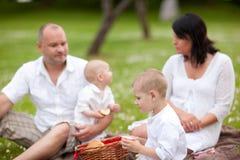 picknic familj Fotografering för Bildbyråer