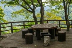 Picknick överst av berget Arkivfoto