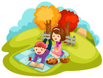 Picknick royalty-vrije illustratie