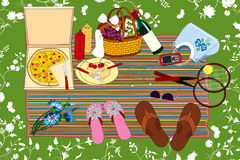 picknick royaltyfri illustrationer