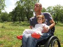 Picknick 2 van de rolstoel Royalty-vrije Stock Foto
