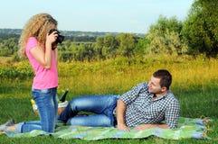 Picknick Stockfotos