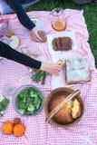 Am Picknick Stockbild