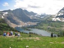 Picknick auf dem Berg Stockfotos