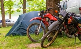Picknick auf Motorrädern Lizenzfreies Stockfoto