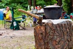 Picknick auf Reinigung lizenzfreie stockfotografie