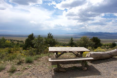 Picknick Bench with a View Royalty Free Stock Image
