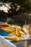 Picknick bij het strand Royalty-vrije Stock Foto