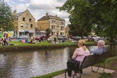 Picknick in Bourton op het Water Royalty-vrije Stock Foto's