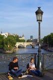 Picknick in de Parijse stijl. Royalty-vrije Stock Foto
