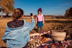 Picknick in de verse lucht royalty-vrije stock fotografie