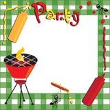 Picknick en BBQ Uitnodiging stock illustratie