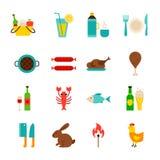 Picknick-Grill-Gegenstände stock abbildung