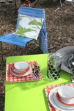 Picknick im Garten Stockfoto