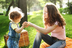 Picknick im Park Stockfotografie