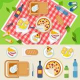 Picknick im Park Stockfotos