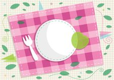 Picknick-Karten-Design stock abbildung