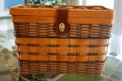 Picknick-Korb Stockfotografie