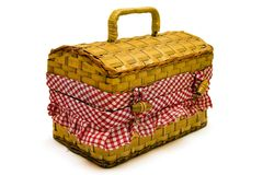 Picknick-Korb stockfotos