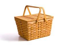 Picknick-Korb auf Weiß stockbild