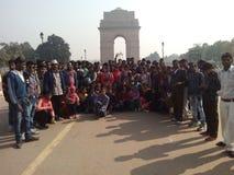 Picknick in New Delhi stock foto's