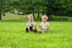 Picknick op het gras Stock Afbeelding