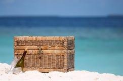 Picknick op het strand Royalty-vrije Stock Afbeelding
