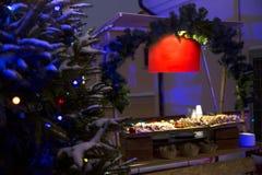 Picknick op Nieuwjaar` s Vooravond stock afbeelding