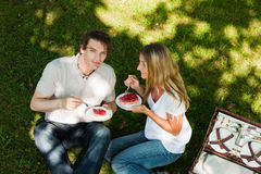 Picknick in openlucht in de zomer Royalty-vrije Stock Afbeeldingen