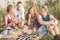 Picknick på ny luft fotografering för bildbyråer